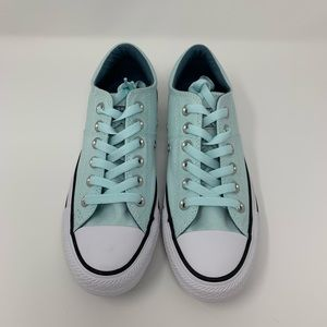 Teal Converse All Star Low Tops
